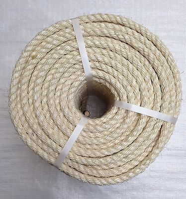 18mm Natural Sisal Decking Rope, Cat Scratching Post, Cats, Garden, Pets, Toys • 18£