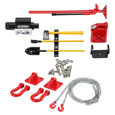 £7.83 • Buy RC Crawler 1/10 Fuel Tank Winch   Tools Kit With Tow Hook Chain For