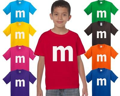 $14.95 • Buy M Candy T-shirt Halloween Costume Cosplay Chocolate Family Trick Or Treat Shirts