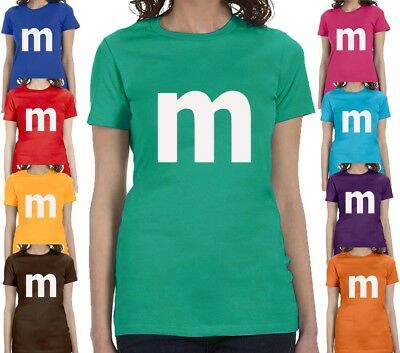 $14.95 • Buy M Candy T-shirt Halloween Costume Cosplay Chocolate Group & Family Party Shirts