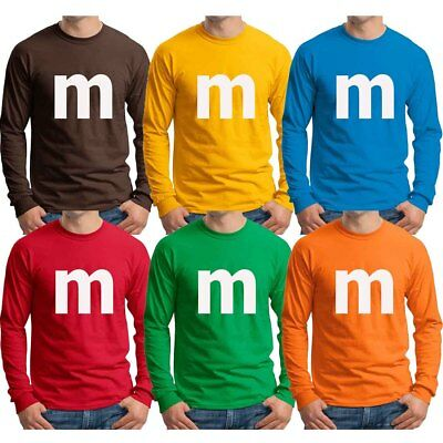$17.95 • Buy M Candy T-shirt Halloween Cosplay Staff Group Family Costume Long Sleeve Shirts