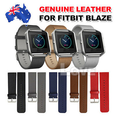 AU8.90 • Buy Replacement Genuine Leather Wrist Watch Band Strap For Fitbit Blaze Wristband