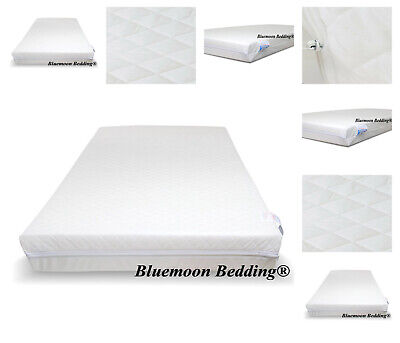 £28.94 • Buy Travel Cot Mattress 65 X 95cm Zip Cover Extra Thick 10cm For Graco Mamas & Papas