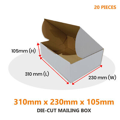 AU26.41 • Buy 20x Die Cut Mailing Box 310 X 230 X 105 Mm Fit BX2 Extra Large Satchel Parcels