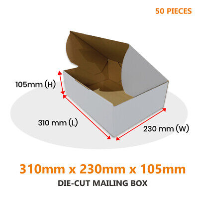 AU42.45 • Buy 50x Die Cut Mailing Box 310 X 230 X 105 Mm Fit BX2 Extra Large Satchel Parcels