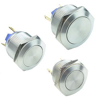 £3.99 • Buy Vandal Resistant Stainless Steel Momentary Push Button Switch 2A SPST