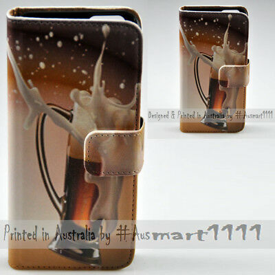 AU14.98 • Buy For Sony Xperia Series - Spilled Beer Theme Print Wallet Mobile Phone Case Cover