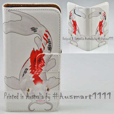 AU14.98 • Buy For Sony Xperia Series -  Koi Fish Theme Print Wallet Mobile Phone Case Cover