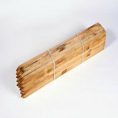 TREE STAKE  10 PACK OF 75cm X 32mm SQUARE SUPPORT TIMBER WOOD GARDEN POSTS PEGS  • 16.25£