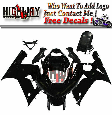 $470.99 • Buy Fairings Fit Kawasaki ZX6R ZX-6R 636 03 04 ABSPlastic Fairing Kit Bodywork Black