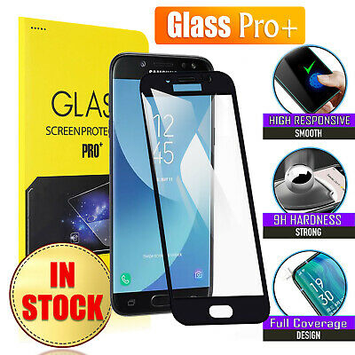 AU4.69 • Buy Full Cover Tempered Glass Screen Protector For Samsung Galaxy J5 J7 Pro 2017 J8