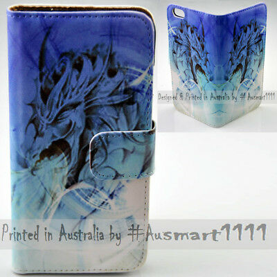 AU14.98 • Buy For Sony Xperia Series - Blue Dragon Theme Print Wallet Mobile Phone Case Cover