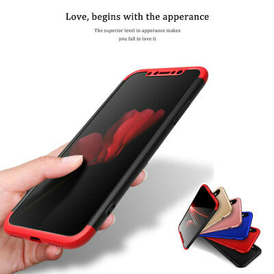 AU7.99 • Buy New Full Body Slim Case Hybrid Hard Shockproof Cover For IPhone X XS 8 7 Plus