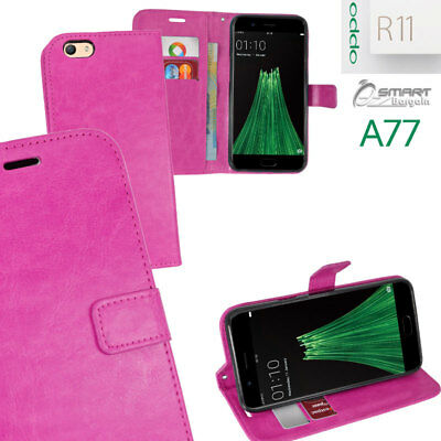 AU6.99 • Buy Pink Wallet Flip Card Slot Stand Case Cover For Oppo R11 A77