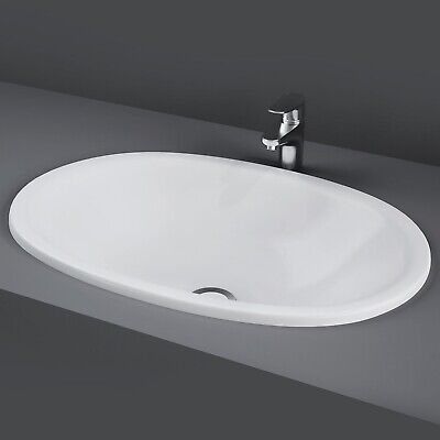 RAK Lily Inset Countertop Basin 460mm Wide - 0 Tap Hole • 68.95£