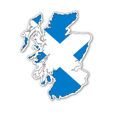 Scotland Map Silhouette Flag Vinyl Car Van Ipad Laptop Sticker • 1.99£