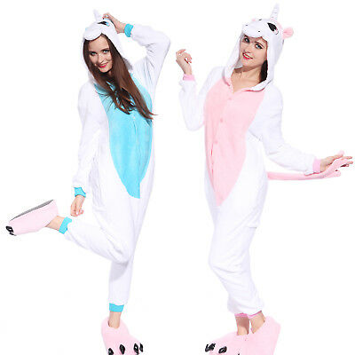 AU30.34 • Buy Hot Unisex Unicorn Kigurumi Pajamas Animal Cosplay Costume Jumpsuit Sleepwear US