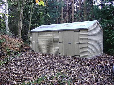 £3510.03 • Buy 20 X 10 HEAVY DUTY EXTRA HEIGHT SHED 22mm TANALISED LOGLAP WOODEN WORKSHOP