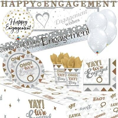 £6.99 • Buy OMG! Engaged Engagement Party Supplies Tableware, Decorations, Balloons, Banners