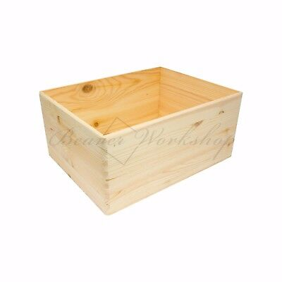 Wooden Box | Wooden Display Box | Wooden Storage Box | Box Open Top | 5 Sizes  • 10£