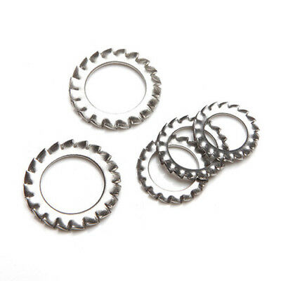 $12.98 • Buy M2.5 M3-M30 Stainless Steel Sawtooth Gasket Outer Serrated Lock Washer Stop Pads