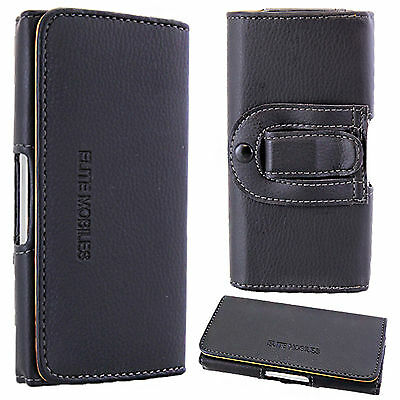 £4.45 • Buy Universal Leather Belt Pouch Loop Hip Holster Case Cover For Mobile Cell Phone