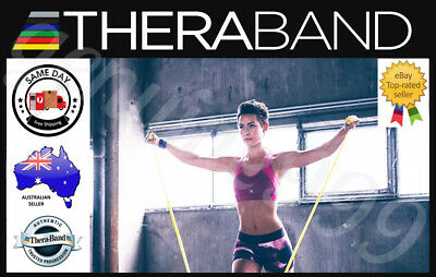 AU21.90 • Buy Genuine THERABAND Exercise Resistance Bands Thera-band (1.5m) - FREE SHIPPING!