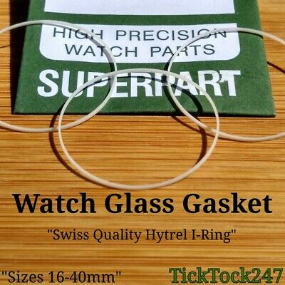 £3.95 • Buy 16-40mm Watch Gasket I-ring Seal For Flat Round Glass Crystal 1.3mm-2.0mm Thick