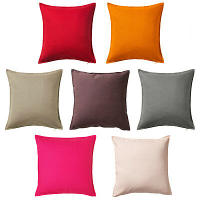 GURLI Cushion Cover 50x50cm Solid Pattern Throw Pillow Cover 100% Cotton IKEA • 5.99£