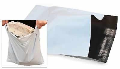 £4.79 • Buy WHITE Mailing Mail Bags Strong Packaging Postal Polythene Plastic UK ALL SIZES