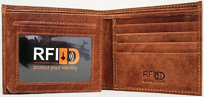 AU24.95 • Buy RFID Security Lined Leather Wallet Quality Full Grain Cow Hide Leather. 11049