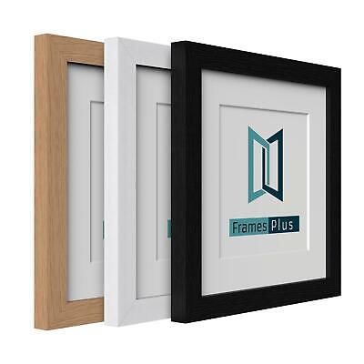 £6.45 • Buy Box Picture Photo Frame With Mount Wood Effect Black White Oak Square Sizes