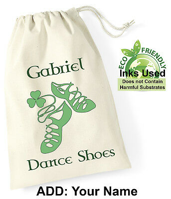 $8.61 • Buy Irish Dance Shoe Personalised Drawstring Bag Cotton Girl Adult Birthday Gift