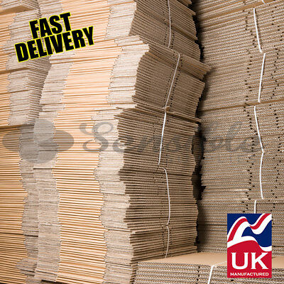 100 X SIZE 8x6x4  S/W MAILING POSTAL CARBOARD BOXES PACKING GIFT CARTONS *FAST* • 19.90£