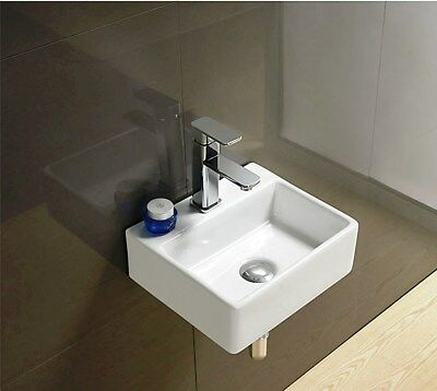 Basin Sink Countertop Wall Hung Mounted Bathroom Cloakroom Square 330 Mm 74 KL • 29.99£