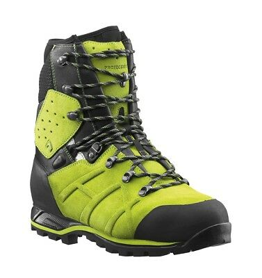 Haix Protector Ultra Class 2 Lime Green Chainsaw Boots • 210£