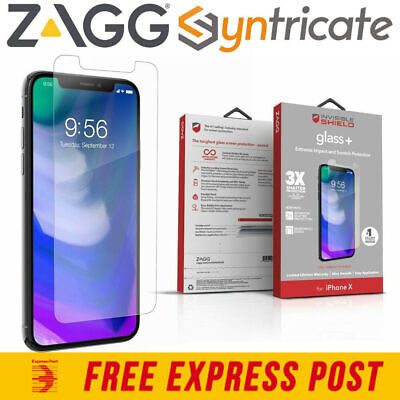 AU39.95 • Buy ZAGG INVISIBLESHIELD GLASS + TEMPERED GLASS SCREEN PROTECTOR FOR IPHONE XS/X