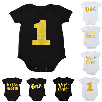 AU9.20 • Buy Newborn Baby Boys Girls Romper 1st Birthday One Piece Jumpsuit Outfit Clothes