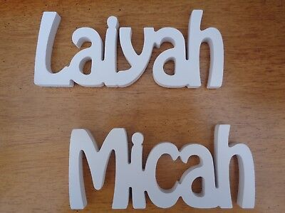 £1.25 • Buy Wooden Words/Letters Free Standing Personalised Names Wedding/Home/Gift