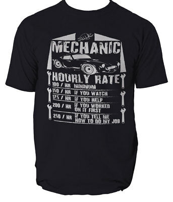 £12.96 • Buy HOURS Rates Mens Funny T Shirt Gift For Mechanic Plumber Electrician Builder