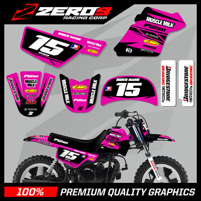 $ CDN76.64 • Buy Yamaha Pw 50 Graphics Kit Peewee Graphics Mini Bike Graphics M/milk Blk/pink