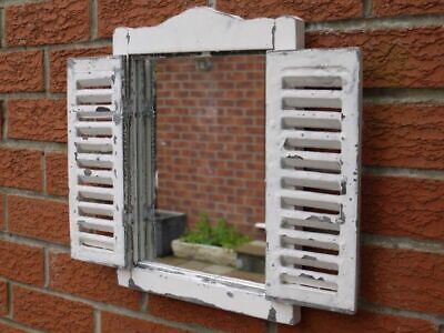 £41.99 • Buy Vintage French Country Wall Mirrors Shelf Window Shutters Bathroom Home Décor