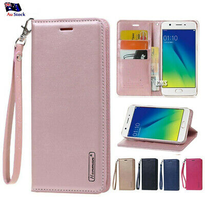 AU8.99 • Buy Hanman Wallet Leather Flip PU Case Cover For Oppo A57 A73 A3S AX5 R15 R17 Pro