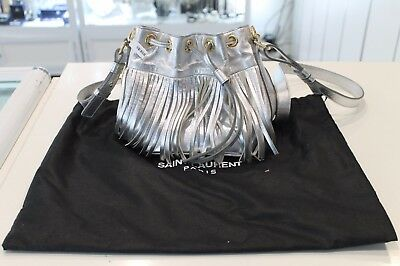 AU999 • Buy NWOT - YSL Saint Laurent Bucket Fringe Leather Bag