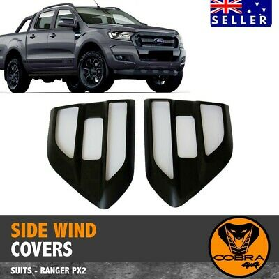 AU39 • Buy  Matte Black Side Wind Cover Vent Fits Ford Ranger Px Px2 2015 - 2020 Everest