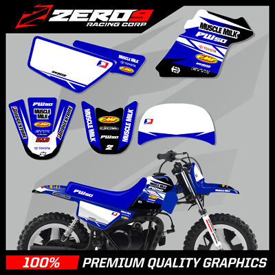 $ CDN68.12 • Buy Yamaha Pw 50 Graphics Kit Peewee Graphics Mini Bike Graphics M/milk Blu No Custo