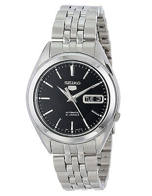 $ CDN167.37 • Buy Seiko 5 SNKL23 Automatic Day-Date Black Dial Stainless Steel Mens Watch SNKL23K1