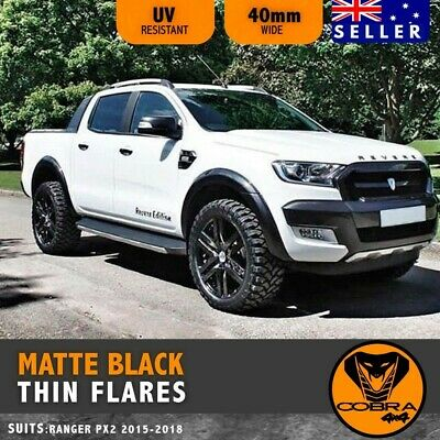 AU299 • Buy Fender Flares Kit Thin Matte Black Guard Trim Fits Ford Ranger Px2 Mk2 2015-2017