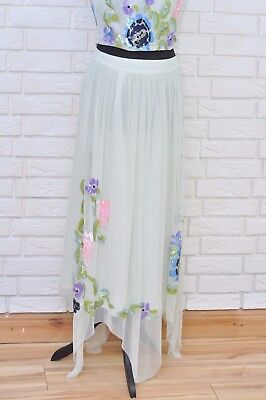 Frock & Frill Floral Sequin Midi Skirt Size 12 Ex ASOS • 25.99£