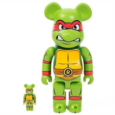 $185 • Buy Medicom BE@RBRICK TMNT Raphael 100% 400% Bearbrick Figure Set